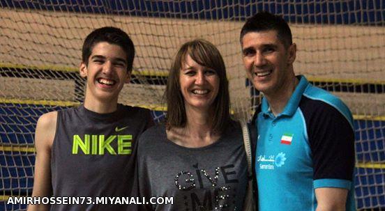 کواچ سرمربی تیم ملی والیبال همرا با همسر و پسر محترمش