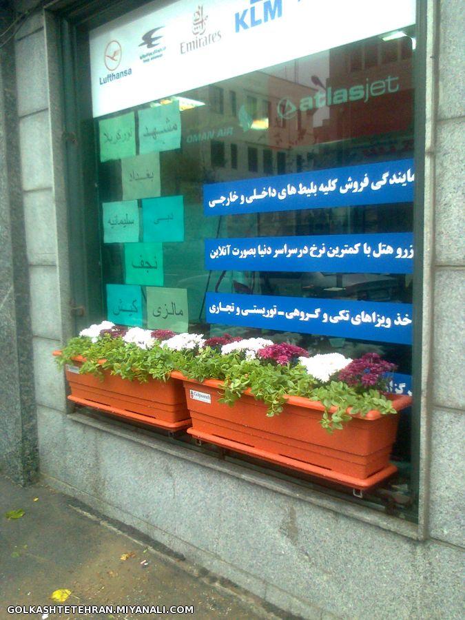 گلدانهای تزئینی برای جلوی پنجره