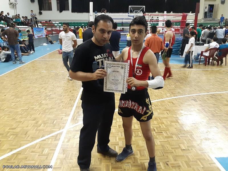 کسب مقام سوم مسابقات قهرمانی کشور انتخابی تیم ملی موی تای توسط ورزشکار میانه ای