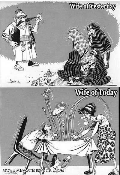 Image result for عکس طنز درباره زن زلیلی