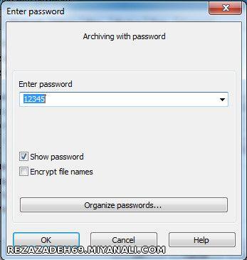 آموزش رمز گذاری روی فایل rar
