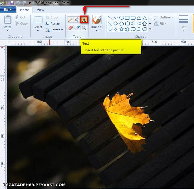 نوشتن متن روی تصویر
