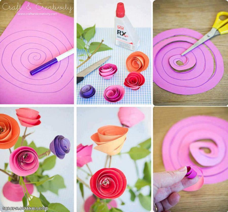 Как сделать из бумаги розу для мамы